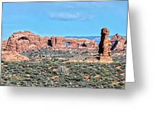 Arches National Park  Moab  Utah  Usa Greeting Card