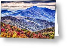 Autumn Season On Blue Ridge Parkway Greeting Card