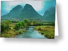 Beautiful Countryside Scenery In Autumn Greeting Card