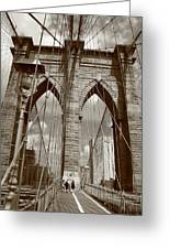 Brooklyn Bridge - New York City Greeting Card