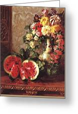 bs- George Henry Hall- Still Life George Henry Hall Greeting Card