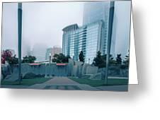 Charlotte North Carolina City Skyline And Downtown Greeting Card