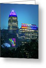 Charlotte North Carolina Cityscape During Autumn Season Greeting Card