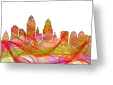 Cincinnati Ohio Skyline  Greeting Card