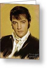 Elvis Presley, Rock And Roll Legend Greeting Card