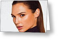 Gal Gadot Art Greeting Card