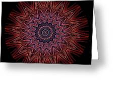 Kaleidoscope Image Created From Light Trails Greeting Card