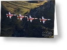 Patrouille Suisse Greeting Card