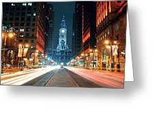 Philadelphia Street Greeting Card