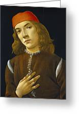 Portrait Of A Young Man Greeting Card