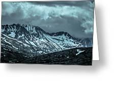 Rocky Mountains Nature Scenes On Alaska British Columbia Border Greeting Card