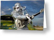 Silver Elvis Greeting Card