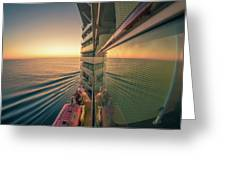 Sunset Over Alaska Fjords On A Cruise Trip Near Ketchikan Greeting Card