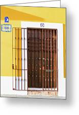 Wooden Door In Old San Juan, Puerto Rico Greeting Card