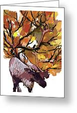 150 Caribou Speed Paint Greeting Card