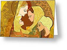 157  Three Women And A Child Greeting Card