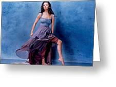 1576 Celebrity Catherine Zeta Jones  Greeting Card