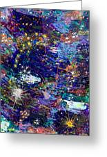 16-1 Blue Space Greeting Card