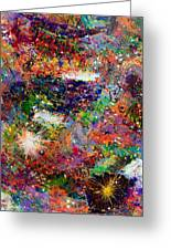 16-3 Red Space Greeting Card