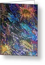 16-4 Space Explosion Canvas Greeting Card