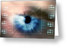 Biometric Eye Scan Greeting Card