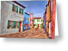 Burano Venice Italy Greeting Card