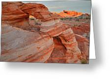 First Light On Valley Of Fire Greeting Card