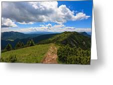 Mountain Panorama, Italy Greeting Card