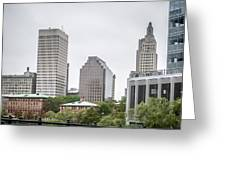 Providence Rhode Island City Skyline In October 2017 Greeting Card