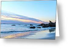 Rocky Daybreak Seascape Greeting Card