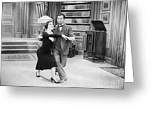 Silent Film Still: Dancing Greeting Card by Granger