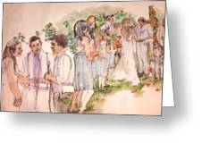 The Wedding Album  Greeting Card