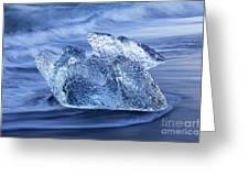 Ice On Beach Greeting Card