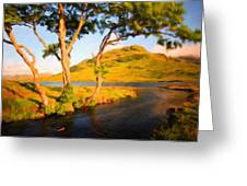 Nature Landscape Wall Art Greeting Card