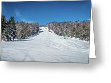 Beautiful Nature And Scenery Around Snowshoe Ski Resort In Cass  Greeting Card