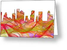 Houston Texas Skyline Greeting Card