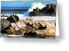 17 Mile Drive Pacific Ocean  Greeting Card