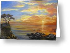 17 Mile Sunset Greeting Card
