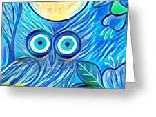 Owl Midnight Greeting Card