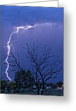 17 Street To Hygiene Lightning Strike. Greeting Card
