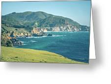 Western Usa Pacific Coast In California Greeting Card