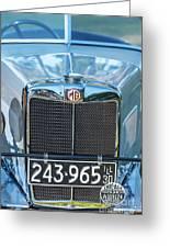 1743.040 1930 Mg Classic Car Greeting Card