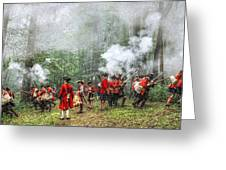 1763 Bushy Run British Counterattack Greeting Card