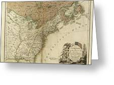 1783 United States Of America Map Greeting Card
