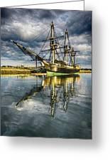 1797 Trading Ship Replica - Friendship Of Salem Greeting Card