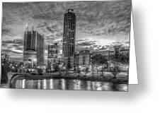 17th Street Dawn Atlantic Station Millennium Gate Art Greeting Card