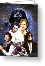 Star Wars Saga Art Greeting Card