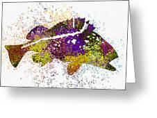Underwater.fish. Greeting Card