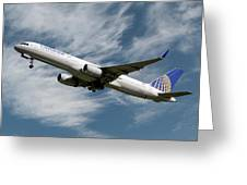 United Airlines Boeing 757-224 Greeting Card