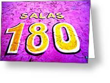 180 Santiago Pinked  Greeting Card